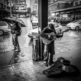 Blind Busker, Pike Place, Seattle - Steve Rutherford Landscape Photography Gallery
